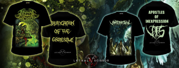 Indecent Excision & Vomit The Soul new T-SHIRTS series